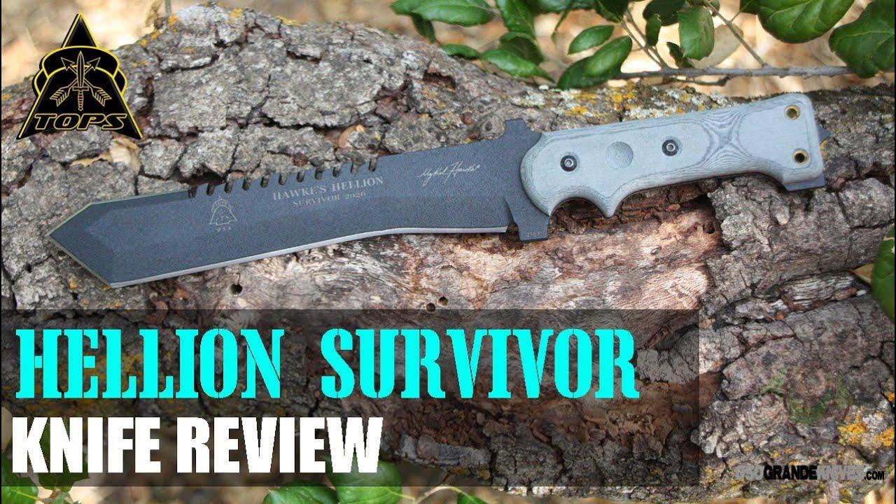 Best Survival Knife 2020 TOPS Hawkes Hellion 2020 Survival Knife Review | OsoGrandeKnives