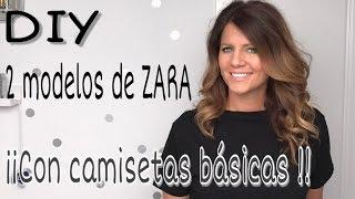 2 camisetas diferentes de ZARA TRANSFORMANDO CAMISETAS básicas!! DIY