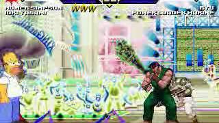 JS MUGEN Homer & Iori vs  Everyone #1