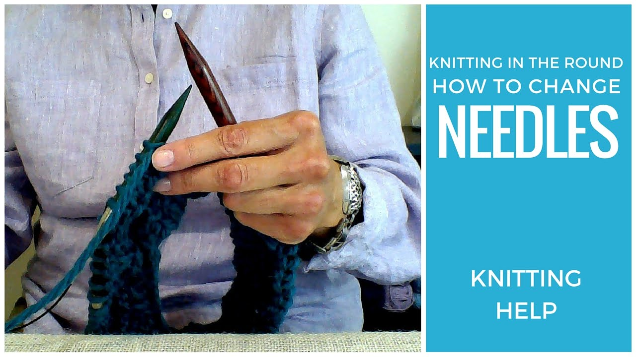 how to use circular knitting needles youtube