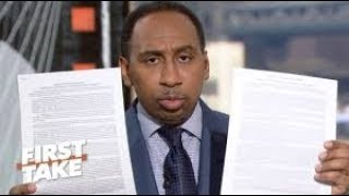"""Stephen A. Smith Implodes on ESPN's """"First Take"""" Over Kaepernick Criticism Backlash"""