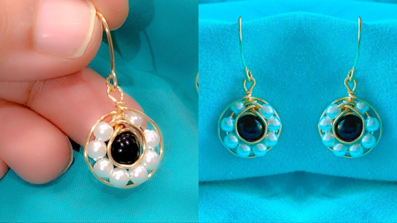 How To Make Beautiful Pearl Earrings Wire Wrapped Pearl Earrings