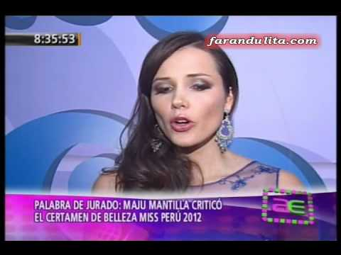 AE: Maju Mantilla le da con palo a Miss Perú 2012 [05-07-2012]