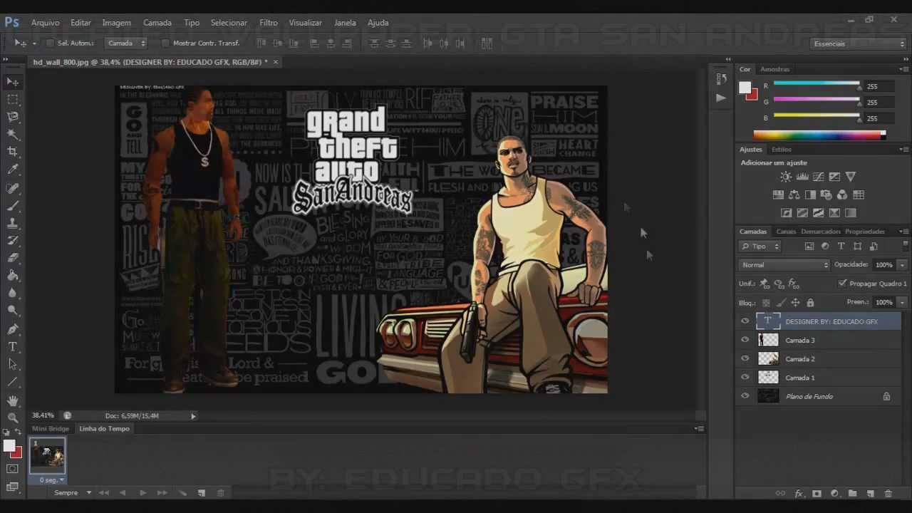 created wallpaper - gta san andreas - ♢educado gfx ♢ - youtube