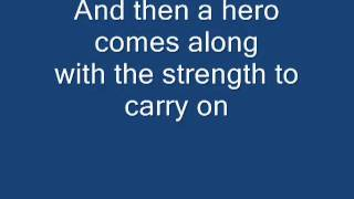 ‪Mariah Carey - Hero [Lyrics]‬‎
