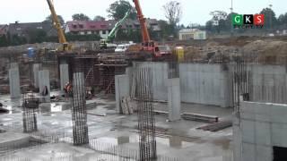 Budowa stadionu w Tychach - stan inwestycji na dzień 26 września 2013 r.