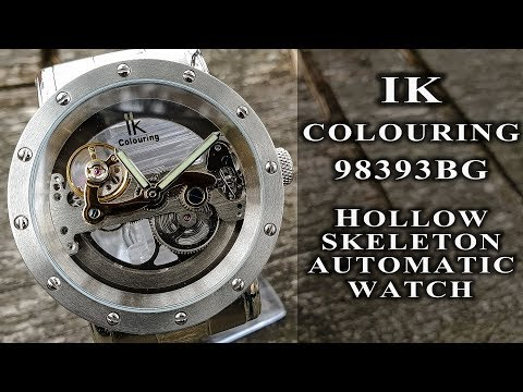 IK Colouring 98393 Automatic Hollow Skeleton Watch Review #182 (bridge Type Movement Watch)