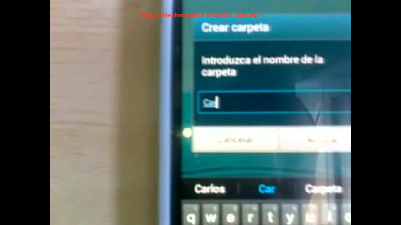 crear carpetas samsung s9