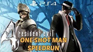 Resident Evil 4 (PS4) - ONE SHOT MAN Speedrun FULL GAME Walkthrough [1080P 60FPS]