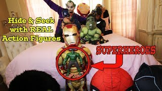 HIDE and SEEK | SUPERHERO TOYS COME TO LIFE |
