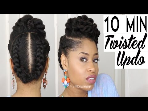 the-10-minute-twisted-updo-|-natural-hairstyle
