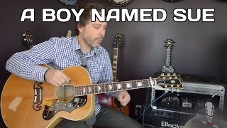 How to play A Boy Named Sue by Johnny Cash - Acoustic Guitar Lesson