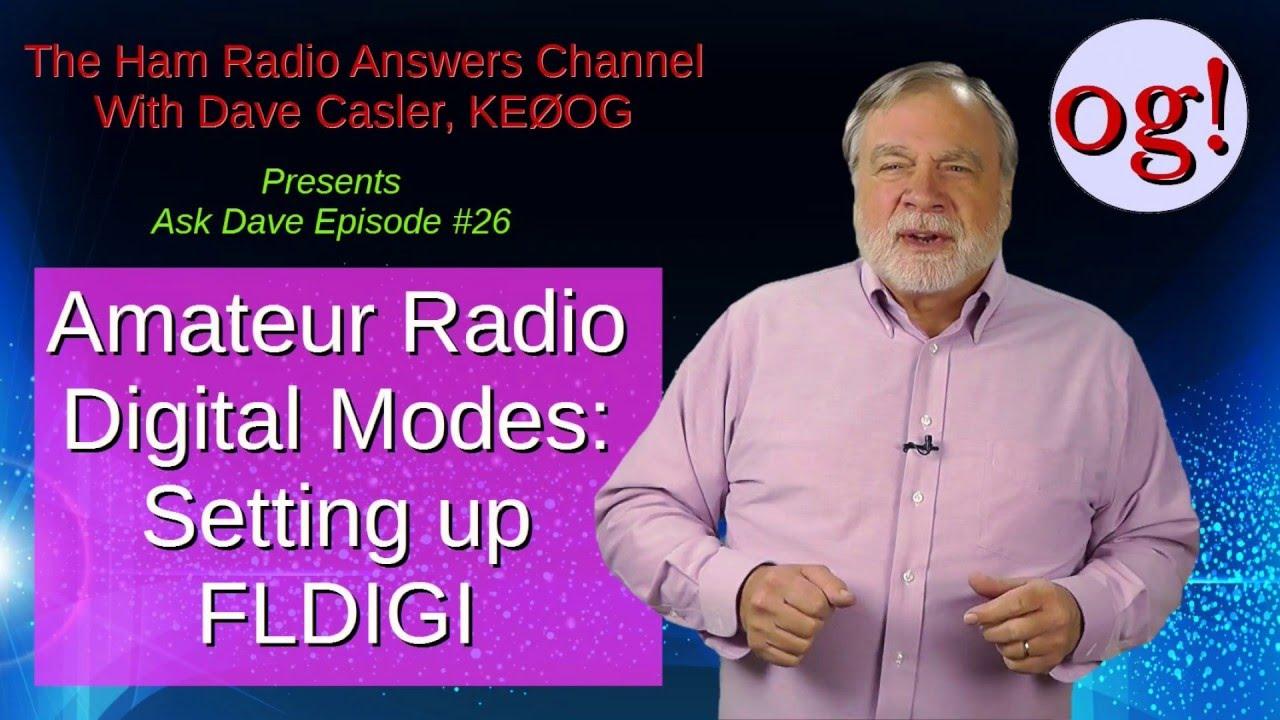 Installing FLDIGI for amateur radio digital modes: AD#26