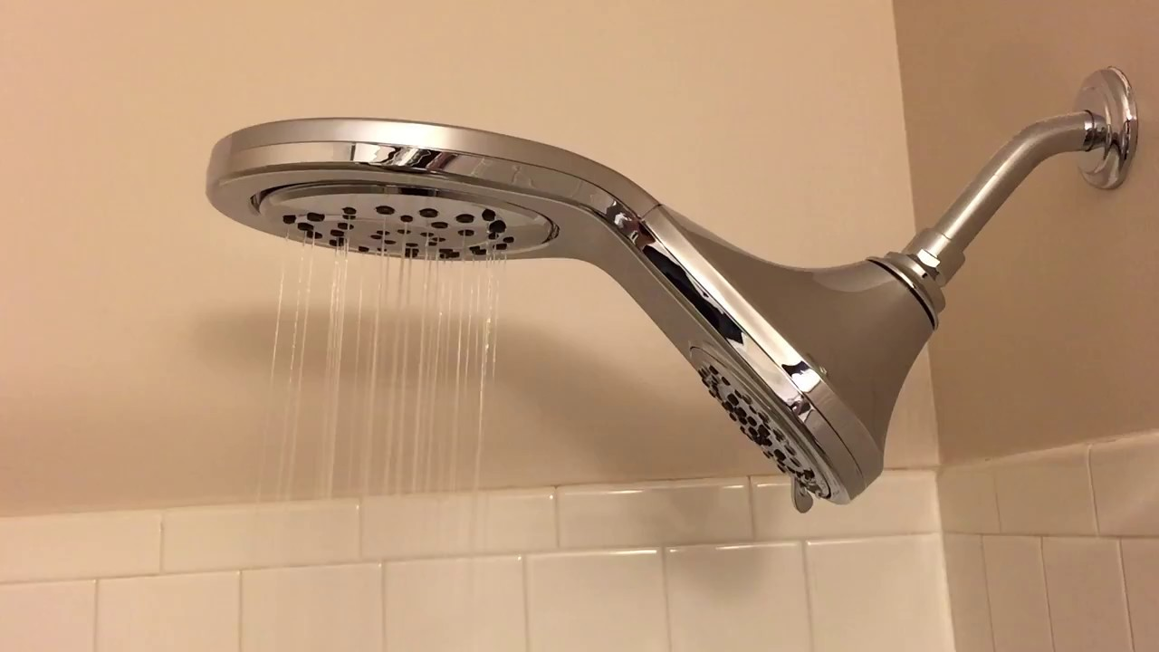 Delta HydroRain 5-Spray 6 in. Two-in-One Showerhead - YouTube