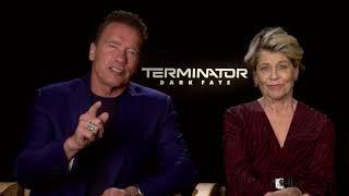 Arnold Schwarzenegger and Linda Hamilton have a special message for TERMINATOR fans