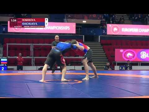 1/2 Men's GP No-Gi - +100 kg: A. ROMANOV (MDA) v. K. KHACHILAEV (RUS)