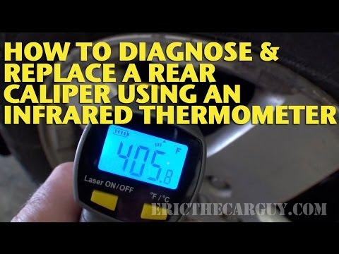 How To Diagnose and Replace a Rear Caliper Using an Infrared Thermometer -EricTheCarGuy