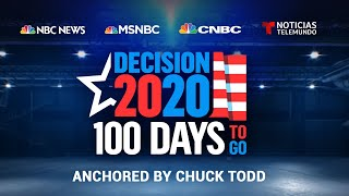 Chuck todd, along with nbc news national political correspondent steve kornacki and white house kristen welker, takes a look at the cu...