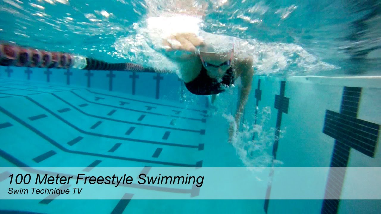 100 meter freestyle swimming technique youtube for How many meters is a swimming pool