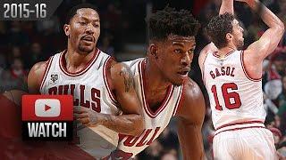 Derrick Rose, Jimmy Butler & Pau Gasol Trio Highlights vs Celtics (2016.01.07) - 54 Pts!