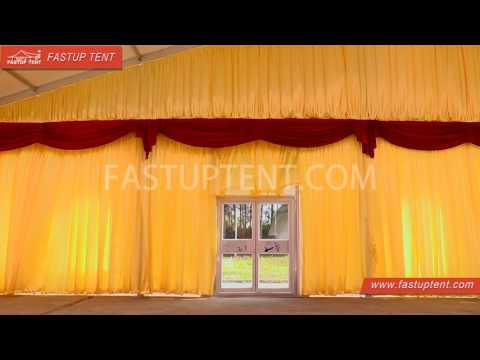 How to install Lining and curtain drape for marquee tent, wedding tent, event tent, party tent?