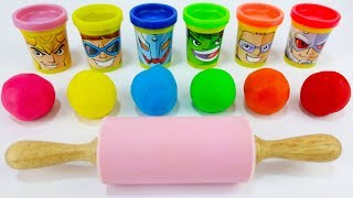 Learn Colors with 6 Color Play Doh and Animals Molds / Kinder Surprise Diamond