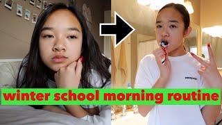 WINTER SCHOOL MORNING ROUTINE! Vlogmas Day 17 + 18  | Nicole Laeno