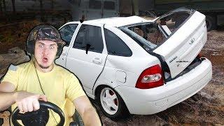 РАЗБИЛ ПРИОРУ в УТИЛЬ - City Car Driving с РУЛЕМ
