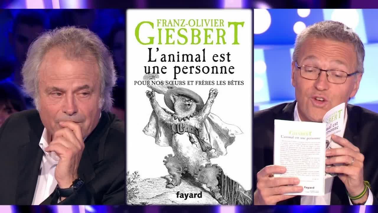 Franz-Olivier Giesbert & les animaux - On n'est pas couché 11 octobre 2014 #ONPC