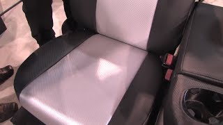 CalTrend Custom Seat Covers - Two Tone Carbon Fiber