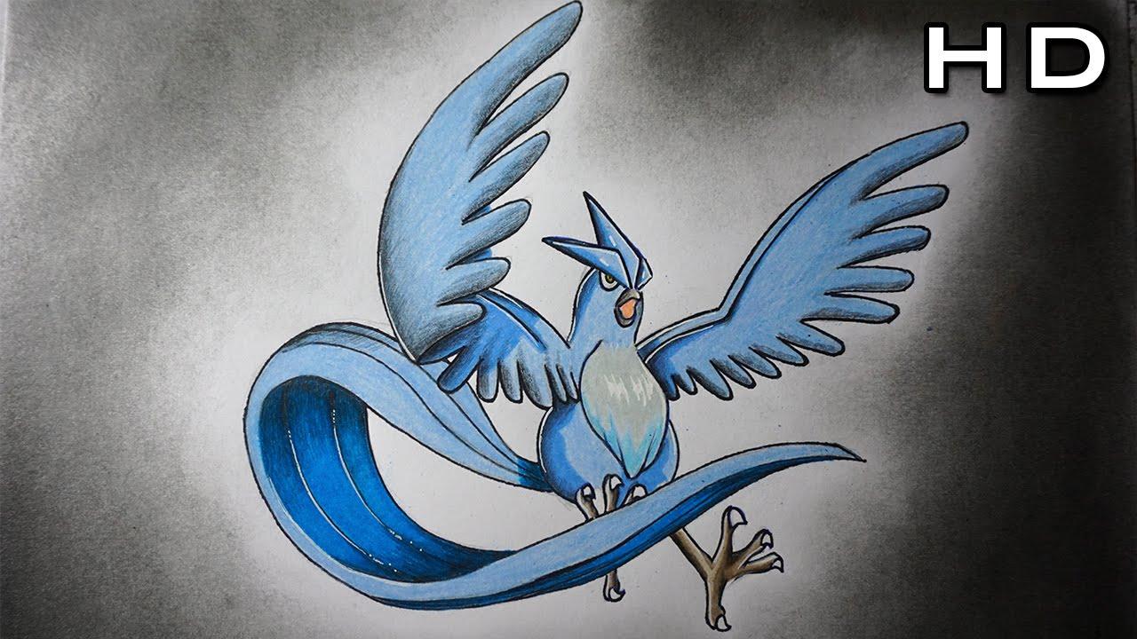 Dibujo de Articuno de Pokémon - Versión Rápida - YouTube