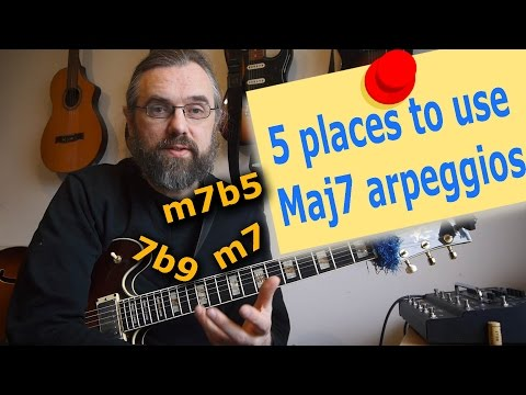 Are you using your Maj7 arpeggios on these chords ❓