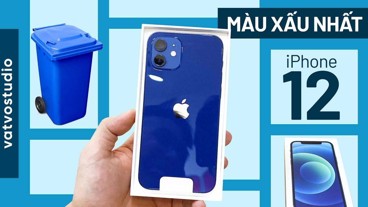 Mở hộp iPhone 12 Xanh Blue mới: có xấu như trên ảnh?