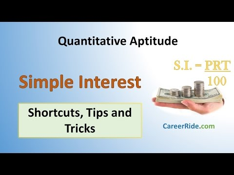 Simple Interest - Shortcuts & Tricks For Placement Tests, Job Interviews & Exams