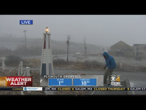 Extreme Wind Batters Coast In Plymouth