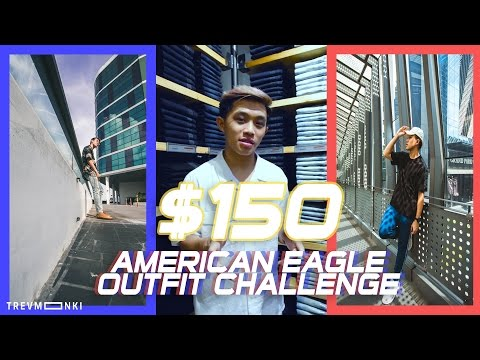 $150 American Eagle Outfit Challenge - Singaporeans Dress Each Other Up!