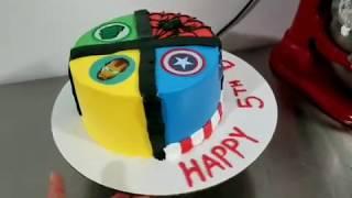 Pastel para niño, avengers