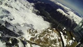 3842m Aiguille du Midi - base jump - Chamonix Mont-Blanc 3842m