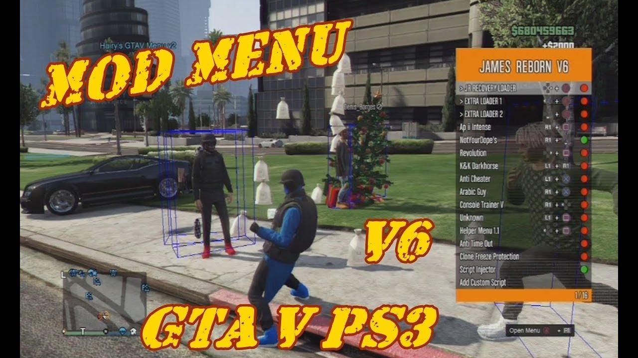 MOD MENU v6 FullMods GTA V PS3 1 27/1 28 DEX/CEX BLES/BLUS +DOWNLOAD
