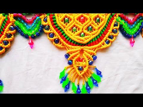 Macrame Beautiful New Design Toran    Tiutorial In Hindi    Full HD Part