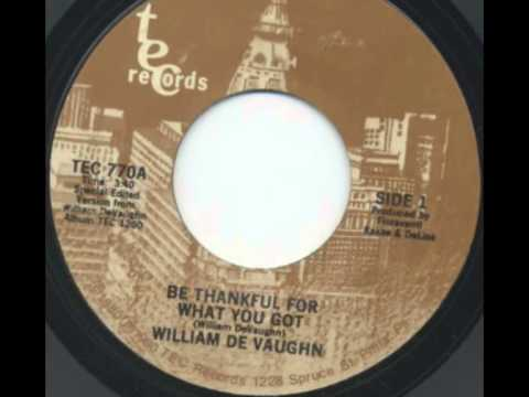 William Devaughn - Be Thankful For What You Got (1974) *with lyrics*