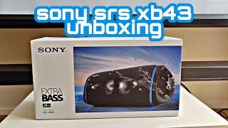 SONY SRS-XB43 - Unboxing & Soundtest