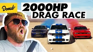 2000 Horsepower Drag Race in the Desert | Donut Media