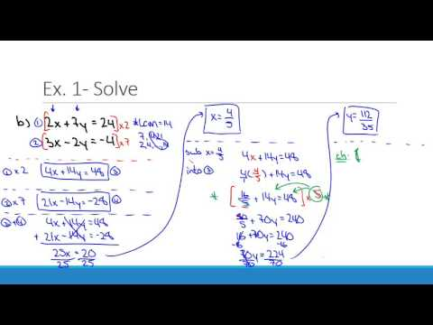 Solving Systems of Linear Equations Using the Elimination Method