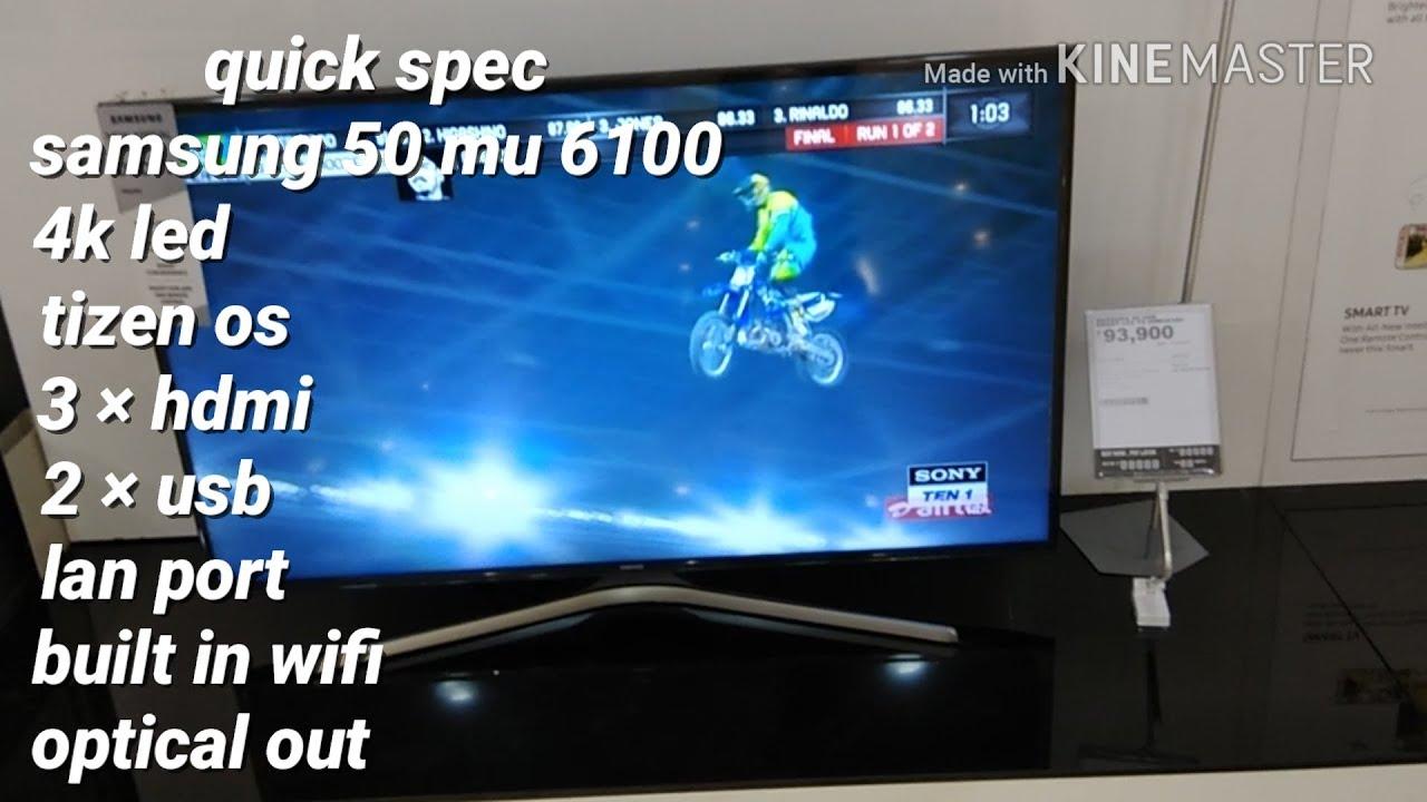 1f1ede5e0 Samsung 50UHD SMART 50 MU 6100...FEATURE REVIEW