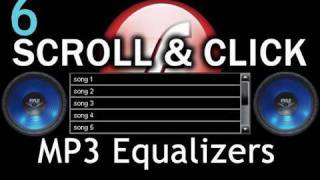 6 graphic equalizer flash scroll list mp3 visuals amplitude as3 xml tutorial
