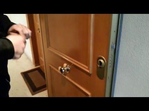 Cambiar el bombillo o cilindro de una cerradura bricoc - Cambiar cerradura puerta blindada ...
