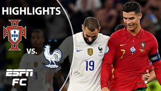 Cristiano Ronaldo and Karim Benzema shine in Portugal vs. France draw   Highlights   ESPN FC