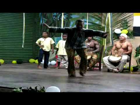 Garifuna dance group of boys, Festival Garifuna, Nicaragua