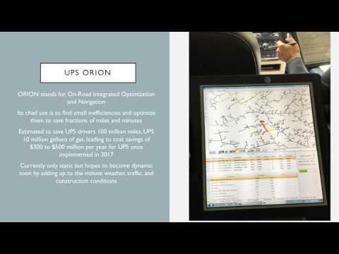 UPS ORION Presentation